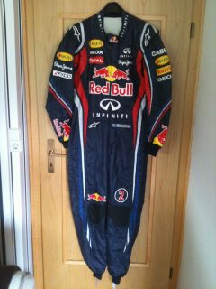 2011 Worn Red Bull Race Suit Overall from Mark Webber Very RARE