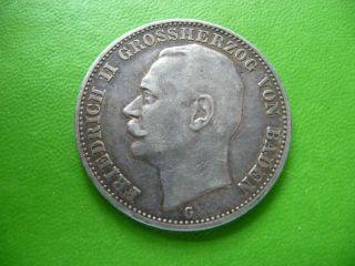 Germany 1910 G Drei Mark Silver 3 Mark Coin