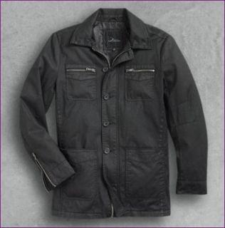 MARC ANTHONY Black Military Style Ballad Cotton Jacket   Size XL   NEW