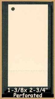 50 Tan Blank Hang Tags Perforated Cardstock 1 3 8x2 3 4