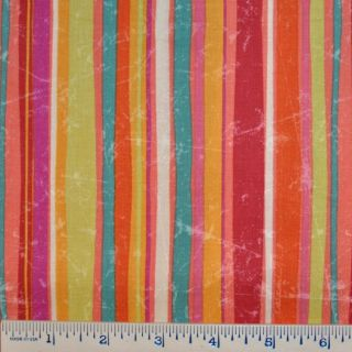 Half Yard Linda Maron SPx Fabrics Magic Garden Vertical Stripes Fabric