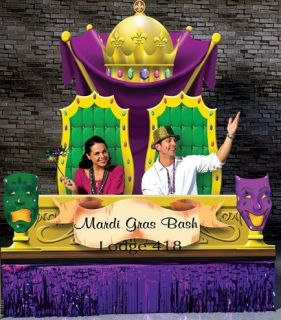 Mardi Gras Theme Party Photo Party Sweet DEcor Prop King Queen Throne