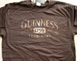 Guinness Faded Logo Brown Adult T Shirt