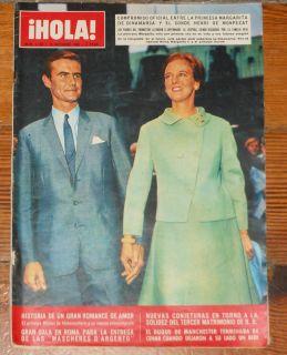 HOLA 1966 Royal Wedding Princess Margaret Denmark Henri of Monpezat