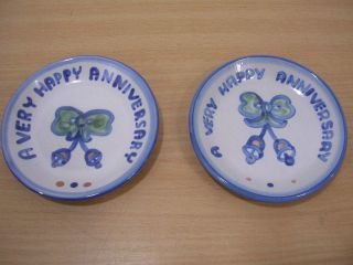 Mary Alice Hadley Anniversary Set of 2 Coasters or Butter Pat