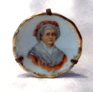 Vintage Porcelain Limoges Martha Washington Portrait Plate