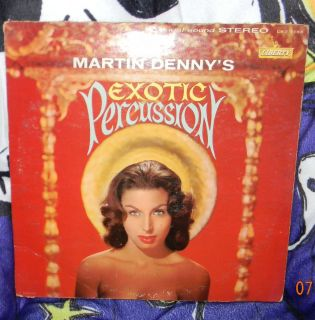 Martin Dennys Denny Exotic Percussion on Liberty 7168 Vinyl LP Record