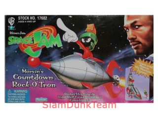 Space Jam Marvins Countdown Rock O Tron Rocket SHIP with Figure and