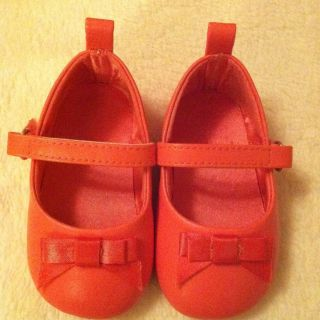 Girls Pink Mary Janes Ballet Bow Shoes Toddler Baby Size 3 Velcro