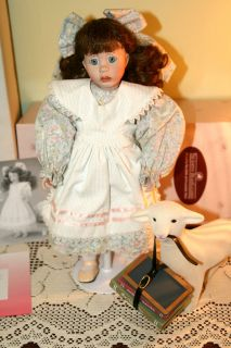 Wendy Lawton Mary Had A Little Lamb Porcelain Doll EXC Cond Ret 1994