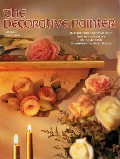 Painter May June 1997 Tole Painting Book Mary Jo Glowing Roses