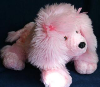 Mary Meyer Pink Poodle Dog Plush Stuffed Animal Doll