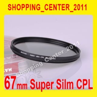 Massa 67mm Super Slim CPL Circular Polarizing C PL Lens filter Fo