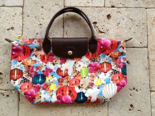 NWT AUTHENTIC Longchamp Mary Katrantzou Tote Short Handle Bag Lanterns