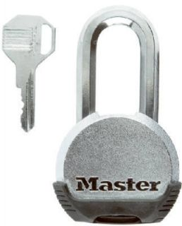 Master Lock Magnum Solid Steel Padlock w Solid Body 1 1 2 Shackle