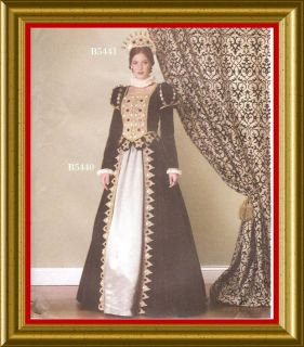 Renaissance Dress Pattern Queen Mary Tudor SCA Butterick 5440 LARP