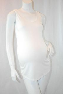 1928 Ivory Knit Maternity Layering Tank Slip Shirt XL