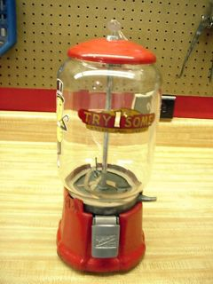 NORTHWESTERN 1930s. MR. PEANUT or GUM COIN VENDING MACHINE, IRON BASE