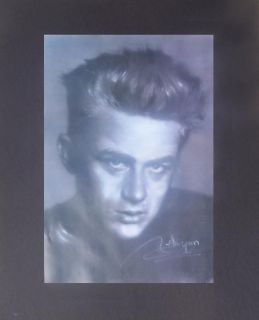 BRAND NEW JAMES DEAN BLACK AND WHITE PORTRAIT PASTEL REPRINT BY HAIYAN