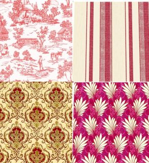 Wallpaper Red Choice of 9 Designs Quality Matte Paper Miniature