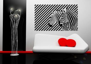 Zebra Illusion Vinyl Wall Sticker for Living Room Bedroom Mural Decal