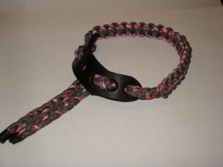 Slingit Handmade Compound Mathews Passion Bow Wrist Sling Pink Camo