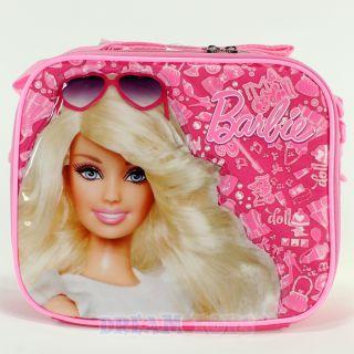 Mattel Barbie Pink Jewels Insulated Lunch Bag Box Case Girls School