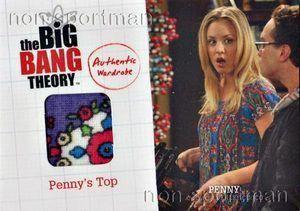BIG BANG HEORY #M17 PENNYS OP WARDROBE CARD ~ KALEY CUOCO ~ 2012