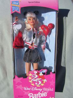 Mattel Barbie Doll 25th Anniversary Walt Disney World 16525 Special Ed