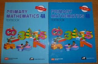 Singapore Math 4A and 4B Books Primary Mathematics 4th Grade