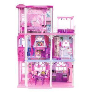 Mattel Barbie Pink 3 Story Dream Townhouse Toys Girls Doll