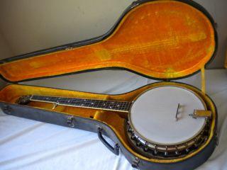 Maybell Nite Hawk Recording 5 String Banjo w Case Nice