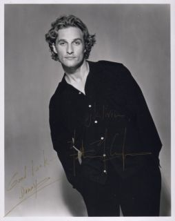 Matthew McConaughey Signed Autographed Handsome Shot