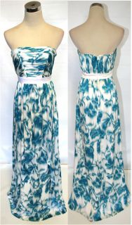 Max and Cleo $228 Turquoise White Prom Ball Gown 4