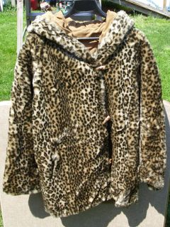 Percy for Marvin Richards Leather & Faux Fur Reversible Coat   SIze