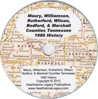 Maury, Williamson, Rutherford, Wilson, Bedford County TENNESSEE 1046