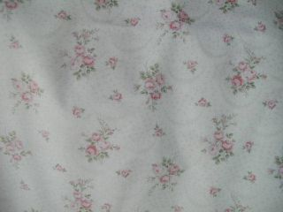 Mary Rose Raspberry Rose Bouquets Faded on Lace Pattern Ground Yd