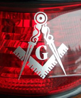10 masonic auto emblem decal sticker freemason Sticker tail light blue