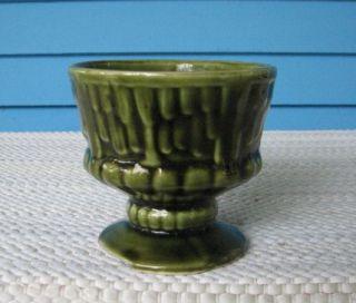Brush McCoy Pottery Green Pedestal Cup Planter