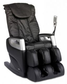 New Cozzia 16018 Black Full Body Massage Chair Recliner w LED Remote