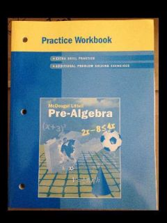 McDougal Littell Middle School Math Practice Workbook (Student) Pre