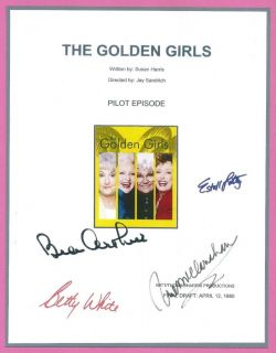 GOLDEN GIRLS SIGNED SCRIP RP BEY WHIE, BEA ARHUR, RUE McCLANAHAN