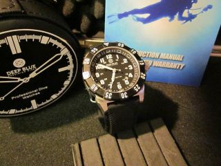 DEEP BLUE NAVY SEAL DIVE Watch mb Microtec H3 Tritium Tube   Day Night