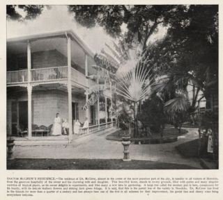 Hawaii Honolulu McGrew Home Quality Antique 1890s Print