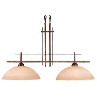 New Hampton Bay Vallejo 2 Light 74 Iron Oxide Island Light Chandeliers