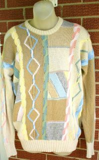 Vintage McGeorge Scottish Cashmere Sweater L 40 Scotland Cable Knit