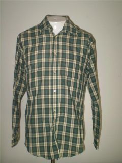 MCGREGOR PLAID SHIRT 80s Vintage Green Bagpiper Check Button Front