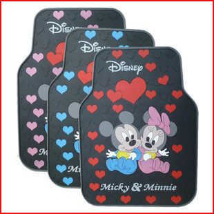 Minnie Mouse Waving Rubber Car Truck Floor Mats Carpet Rug