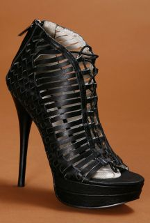 Mea Shadow Fatima Strappy Peeptoe Pump MSRP $250 00