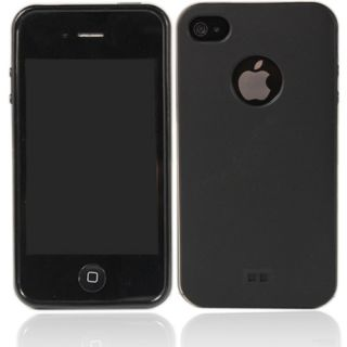 New Cool Black Clear Soft Silicone Back Case for iPhone 4 4G